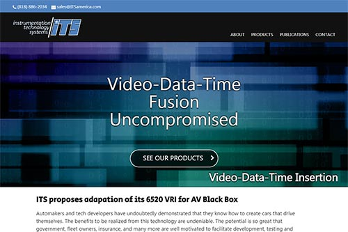 Custom website for Instrumentation Technology Systems