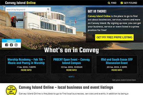 Custom website for Canvey Island Online
