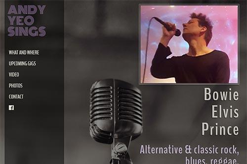 Custom website for Andy Yeo Sings