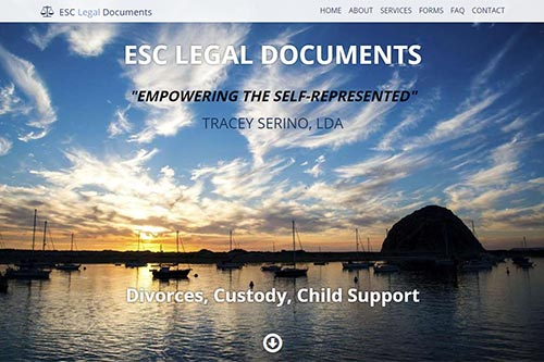 Custom website for ESC Legal Documents