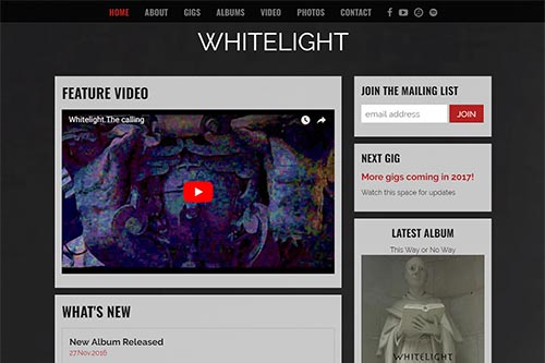 Custom website for Whitelight