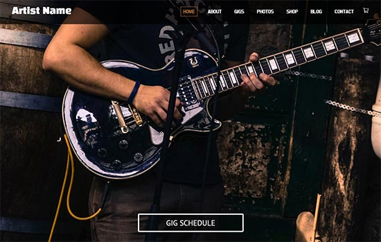 Music and Entertainment html website template
