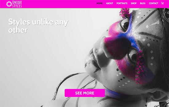Beauty and Fashion html website template